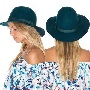 NWT Brixton 100% Wool Dalila Floppy Hat in Teal